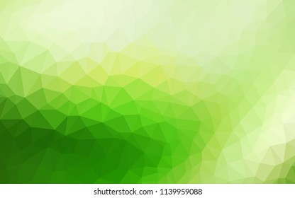 Light Green vector abstract polygonal template. Creative geometric illustration in Origami style with gradient. Brand new design for your business.
