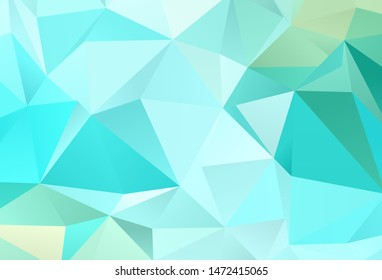 Light Green vector abstract polygonal background. Shining colorful illustration with triangles. Best triangular design for your business.