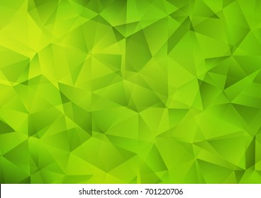 Light Green vector abstract polygonal pattern. A vague abstract illustration with gradient. A completely new design for your business.