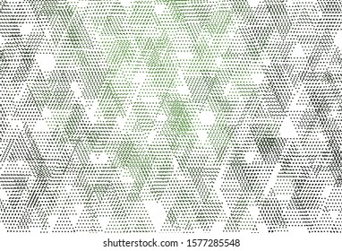 Light Green vector backdrop with lines, circles. Illustration with set of colorful circles, triangles. Best design for poster, banner.