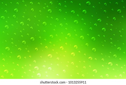 Light Green vector background with bubbles. Illustration with set of shining colorful abstract circles. Completely new template for your brand book.