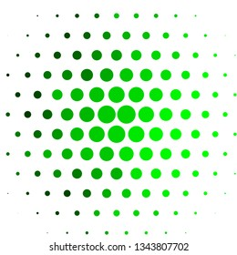Light Green vector background with circles. Illustration with set of shining colorful abstract spheres. Pattern for websites, landing pages.