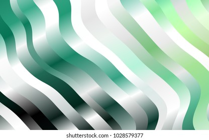 Light Green vector background with lava shapes. An elegant bright illustration with gradient. A completely new marble design for your business.