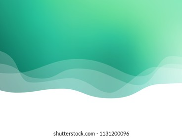 Light Green vector background with liquid shapes. An elegant bright illustration with gradient. Textured wave pattern for backgrounds.