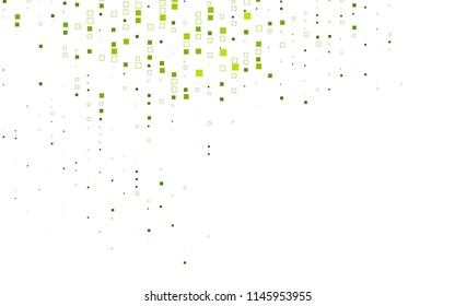 Light Green vector background of rectangles and squares. Style quilt and blanket. Geometrical rectangular pattern. Repeating pattern with rectangle shapes.