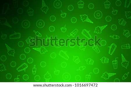 Light Green Vector Background Tasty Sweets Stock Vector Royalty