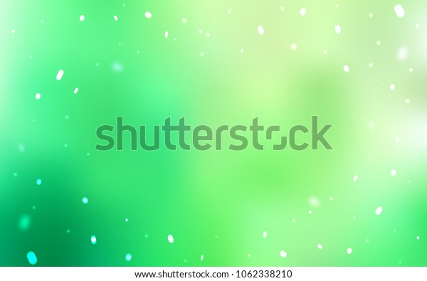 Light Green vector background with xmas snowflakes. Modern geometrical abstract illustration with crystals of ice. The template can be used as a new year background.