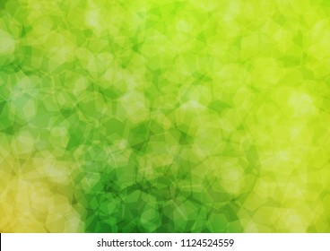 Light Green vector blurry hexagon template. A completely new color illustration in a vague style. The best hexagonal design for your business.