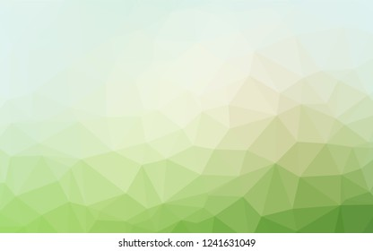 Light Green vector blurry hexagon template. Creative illustration in halftone style with gradient. The textured pattern can be used for background.