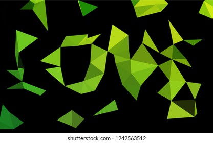 Light Green vector blurry hexagon template. Shining colored illustration in a Brand new style. The polygonal design can be used for your web site.