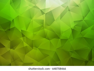 Light Green vector blurry triangle template. A vague abstract illustration with gradient. Brand-new style for your business design.