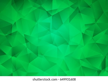 Light Green vector blurry triangle template. Colorful illustration in abstract style with gradient. A completely new design for your business.