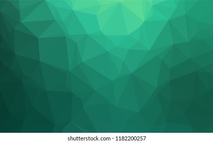 Light Green vector hexagon mosaic texture. A completely new color illustration in a vague style. A completely new template for your business design.