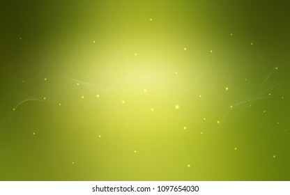 Light Green vector layout with circle shapes. Beautiful colored illustration with blurred circles in nature style. Pattern can be used as texture of water, rain drops.