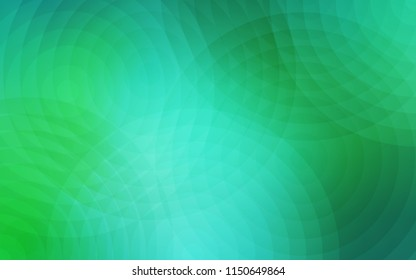 Light Green vector layout with circle shapes. Beautiful colored illustration with blurred circles in nature style. Completely new template for your brand book.