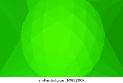 Light Green vector low poly cover with a diamond. A sample with polygonal shapes. A completely new design for your leaflet.