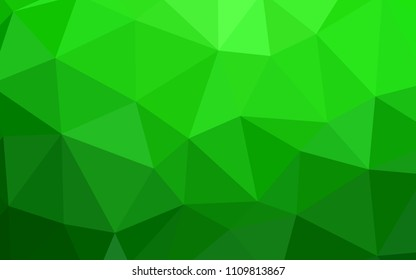 Light Green vector low poly layout. Creative geometric illustration in Origami style with gradient. Template for cell phone's backgrounds.