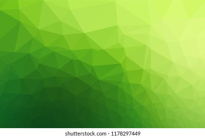 Light Green vector low poly texture. Brand new colored illustration in blurry style with gradient. The template can be used as a background for cell phones.