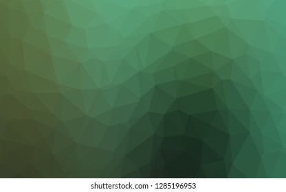 Light Green vector low poly texture. Triangular geometric sample with gradient.  Template for a cell phone background.