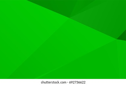 Light Green vector low poly template. Colorful abstract illustration with gradient. The completely new template can be used for your brand book.