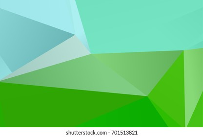 Light Green vector low poly template. An elegant bright illustration with gradient. A new texture for your design.