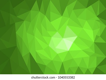 Light green vector modern geometrical abstract background. Texture, new background. Geometric background in Origami style with gradient. Vector illustration, EPS10.