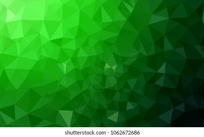 Light Green vector modern geometrical abstract background. Texture, new background. Geometric background in Origami style with gradient.