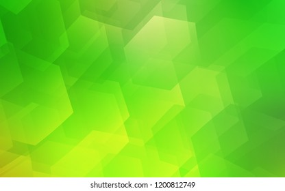 Light Green vector pattern with colorful hexagons. White background with colorful hexagons. Beautiful design for your business advert.
