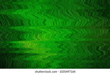 Light Green vector pattern with liquid shapes. Geometric illustration in marble style with gradient.  A completely new template for your business design.