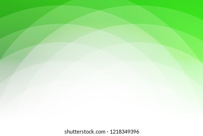 Light Green vector pattern with liquid shapes. Shining illustration, which consist of blurred lines, circles. New composition for your brand book.
