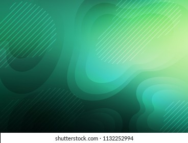 Light Green vector pattern with narrow lines. Shining colored illustration with narrow lines. The pattern can be used for busines ad, booklets, leaflets