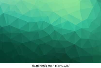 Light Green vector polygon abstract layout. Colorful illustration in abstract style with gradient. Brand new style for your business design.