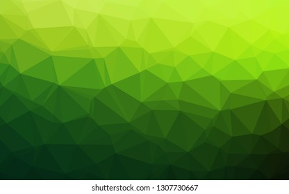 Light Green vector polygon abstract backdrop. Brand new colorful illustration in with gradient. Brand new design for your business.