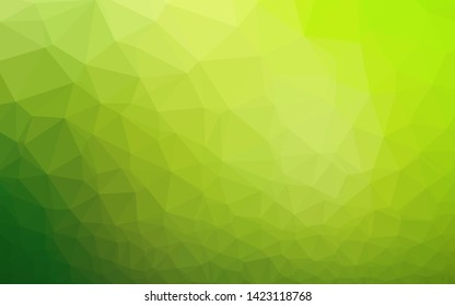 Light Green vector polygon abstract layout. Colorful abstract illustration with gradient. The best triangular design for your business.