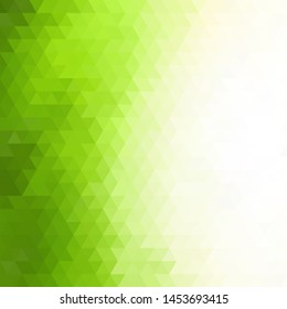 Light Green vector polygon abstract layout. A completely new color illustration in a polygonal style. Polygonal design for your web site.