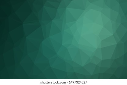 Light Green vector polygon abstract background. A completely new color illustration in a vague style. Completely new design for your business.