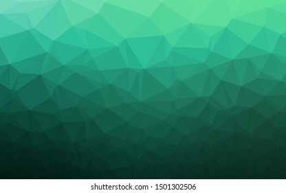 Light Green vector polygonal background. Geometric illustration in Origami style with gradient. Textured pattern for background.