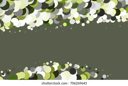 Light Green vector red banner with set of circles, dots. Donuts Background. Creative Design Template. Technological halftone illustration.