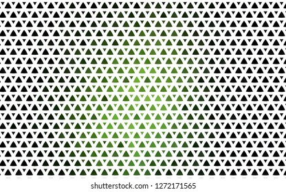 Light Green vector seamless layout with lines, triangles. Beautiful illustration with triangles in nature style. Pattern for design of window blinds, curtains.