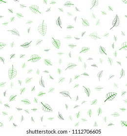 Light Green vector seamless  natural elegant pattern. Brand-new colored illustration in blurry style with leaves. The textured pattern can be used for website.
