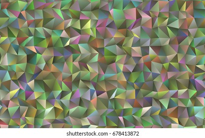 Light Green vector shining triangular background. Shining colored illustration in a brand-new style for your business.
