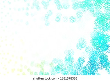 Light Green vector template with circles, lines. Modern abstract illustration with colorful dots, lines. Pattern for futuristic ad, booklets.