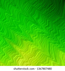 Light Green vector template with curved lines. Bright illustration with gradient circular arcs. Pattern for websites, landing pages.