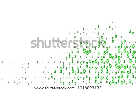 Light Green Vector Template Us Currency Stock Vector Royalty Free