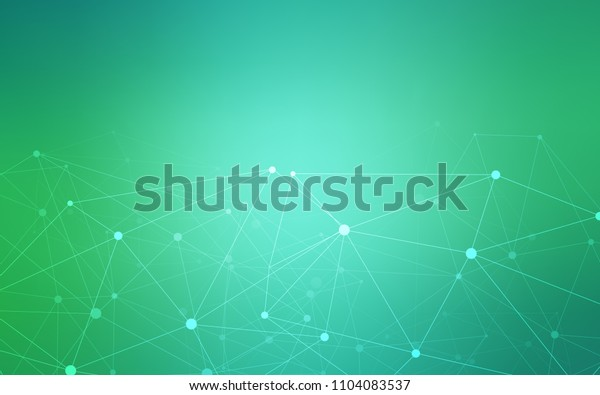 Light Green vector texture with disks, lines. Illustration with set of colorful abstract circles and lines. Pattern can be used as texture of wallpapers.