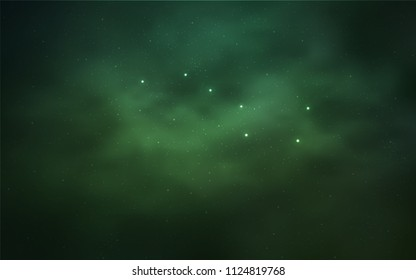 Light Green vector texture with milky way stars. Space stars on blurred abstract background with gradient. Pattern for astronomy websites.