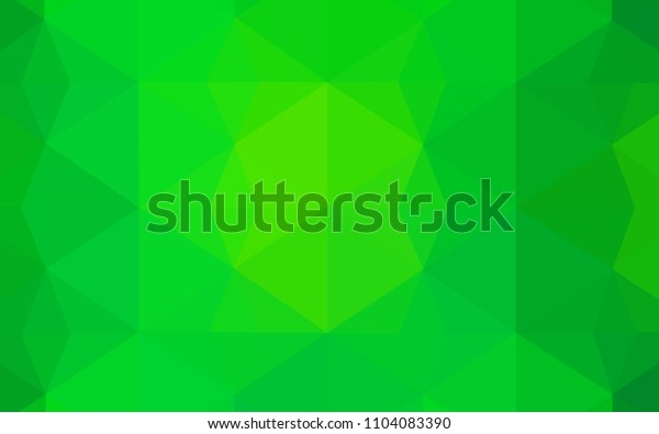 Light Green vector triangle mosaic template. Colorful illustration in polygonal style with gradient. Polygonal design for your web site.