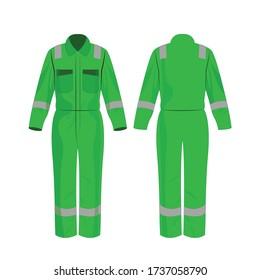 Hellgrüne Arbeitsflächen mit isoliertem Sicherheitsband auf weißem Hintergrund