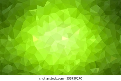 Light Green Yellow Pattern. Seamless triangular template. Geometric sample. Repeating routine with triangle shapes. Seamless texture for your design. Pattern can be used for background.