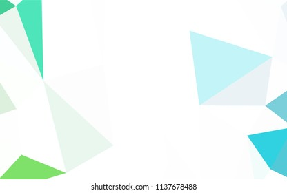 Light Green, Yellow vector abstract polygonal template. Modern abstract illustration with triangles. Template for cell phone's backgrounds.